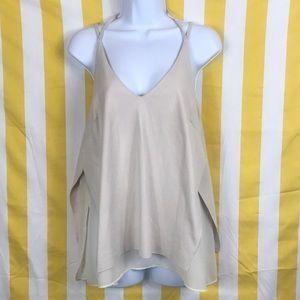 Used cream color halter top